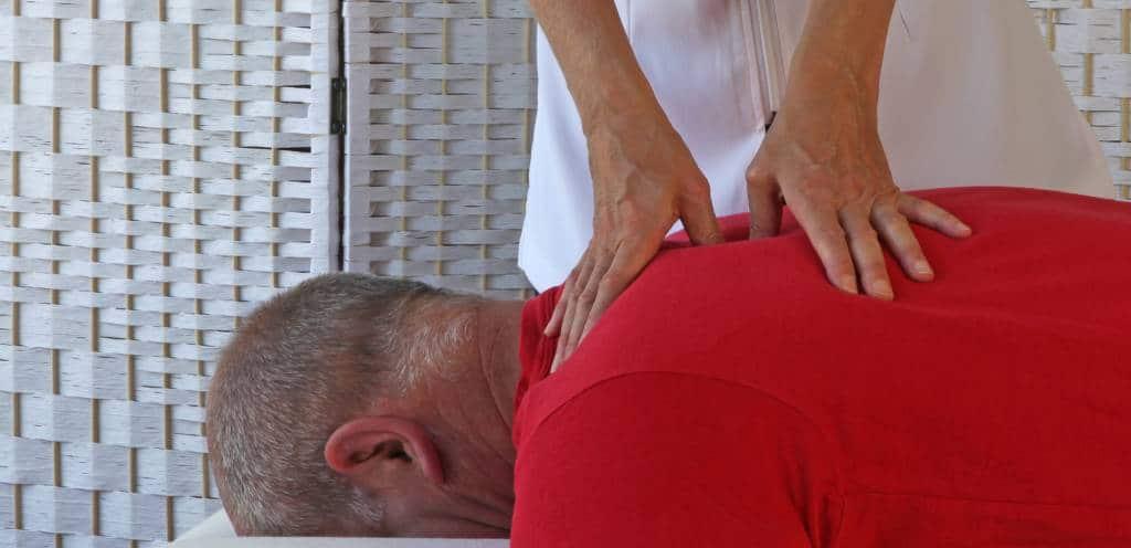 Massage amma allongé, Shiatsu